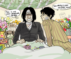 harry potter, severus snape, and funny image