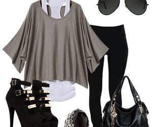 black, grey, and heels image
