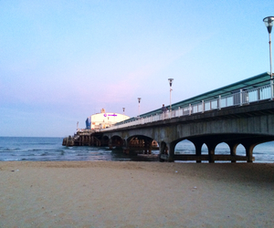 pier, summer, and bournemouth image