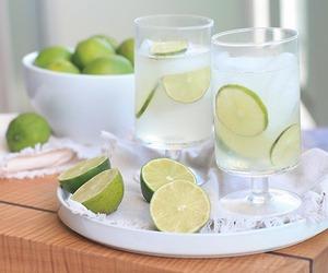 drink, lime, and lemon image
