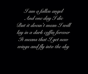 die, fallen angel, and quote image