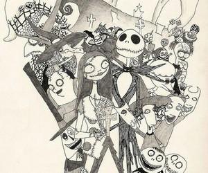 nightmare, art, and tim burton image