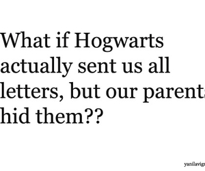 hogwarts, harry potter, and letters image