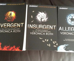 books, insurgent, and divergent image