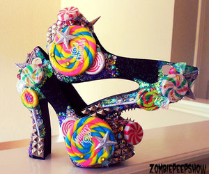 candy, lollipop, and shoes image