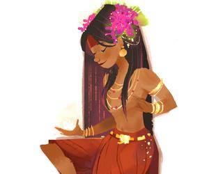 anime girl, girl, and india image