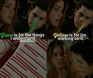 stiles stilinski, couple, and teen wolf image