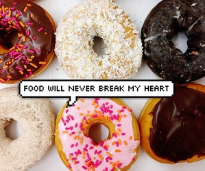 always, donuts, and background image