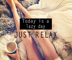 relax, Lazy, and coffee image