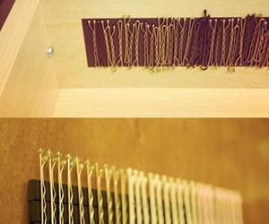 bobby pins, diy, and drawer image