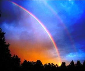rainbow, beautiful, and sky image