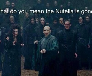 harry potter, nutella, and voldemort image