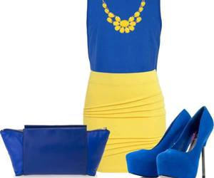 blue, yellow, and dress image