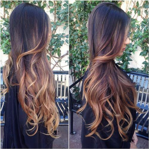 Ombre hair uploaded by Mel Diamond on We Heart It