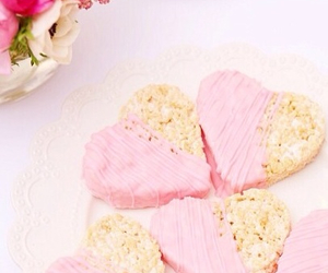 flowers, heart, and food image
