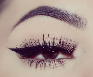 black, liner, and girl image