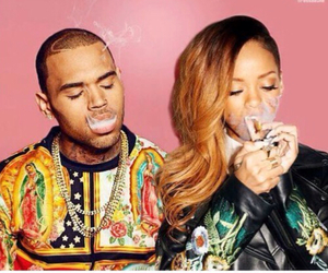 chris brown, couple, and pink image