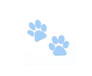 animals, blue, and paw prints image