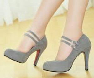grey, heels, and strappy image