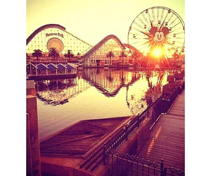 amusement park, beauty, and scenery image