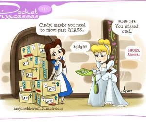 cinderella, pocket princesses, and belle image