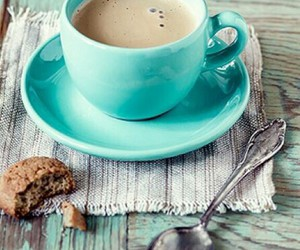coffee, blue, and cookie image