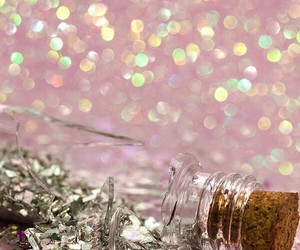 glitter, bottle, and broken image