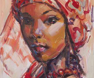 art, brown, and artwork image