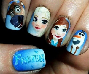 frozen, nails, and olaf image