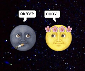 moon, emoji, and the fault in our stars image
