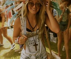 girl, summer, and festival image