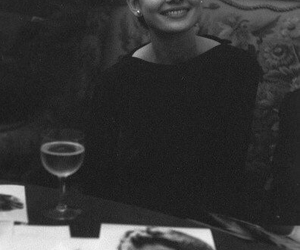 audrey, black, and white image