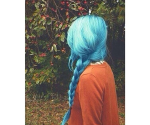 hair, blue, and pretty image