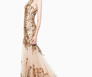 dress, Alexander McQueen, and model image