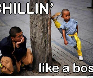 funny, like a boss, and chillin image