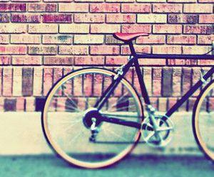 bike, vintage, and wallpaper image