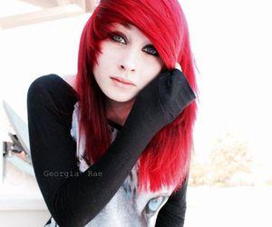 alt girl, dyed hair, and mermaid hair image