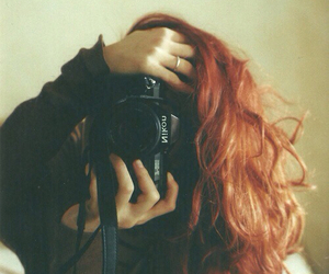 beautiful girl, camera, and indie image