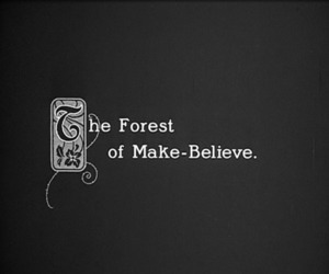 forest, make-believe, and black and white image