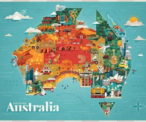 australia, illustration, and art image
