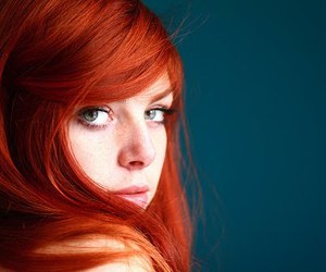 red hair and girl image