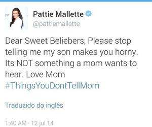 justin bieber, beliebers, and pattie mallette image