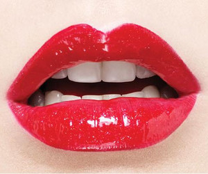 lips, red, and christina aguilera image