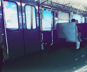 anime and train image