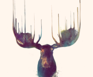 background, iphone, and moose image