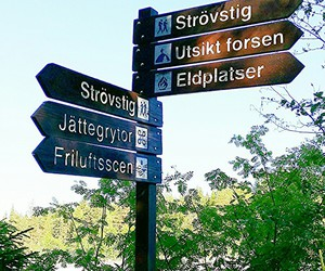 forest, sign, and swedish image