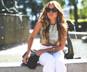 black, tan, and fashion image