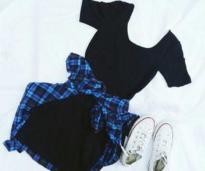 checkered, fashion, and converse image