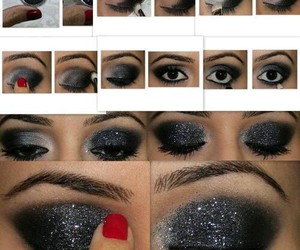 Collage, eyebrows, and eyes image