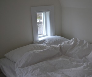 white, bed, and pale image